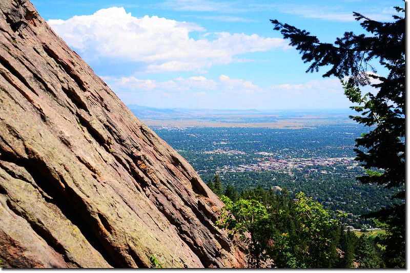 Overlooking Boulder downtown from the trail