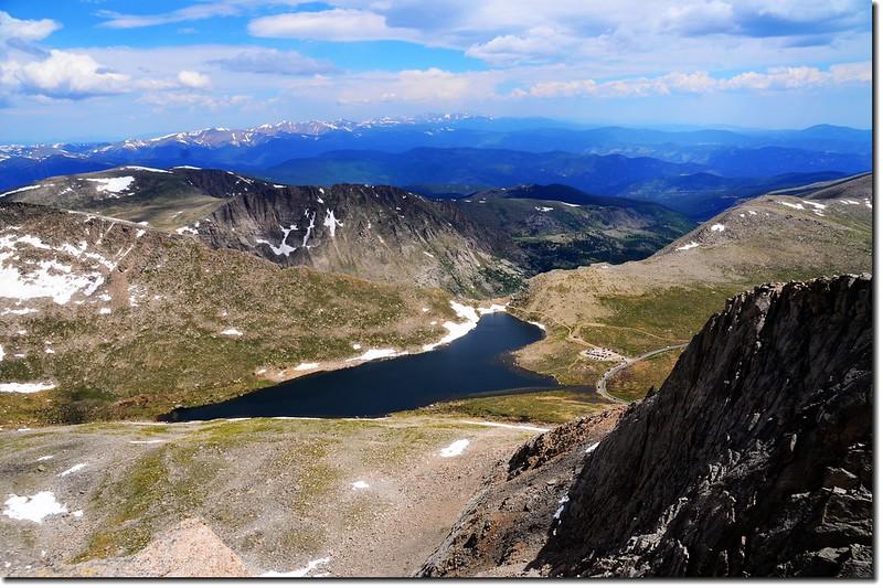 Mount Evans山頂俯瞰Summit Lake