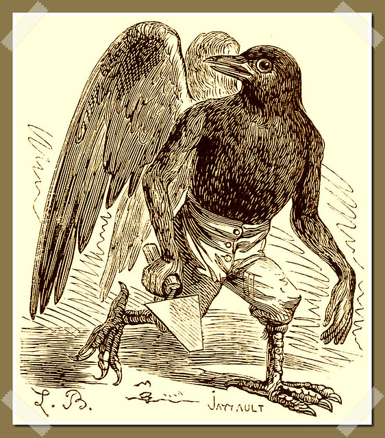 Malphas as depicted in Collin de Plancy's Dictionnaire Infernal, 1863 edition.
