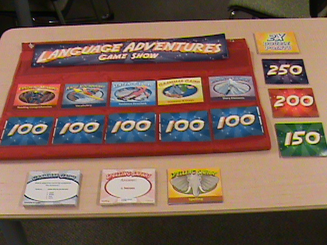 Language adventures game show.