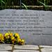 William Wordsworth's Garden Plaque