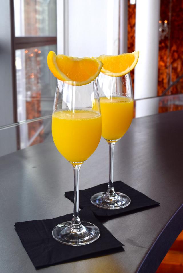 Mimosas at Duck & Waffle | www.rachelphipps.com @rachelphipps
