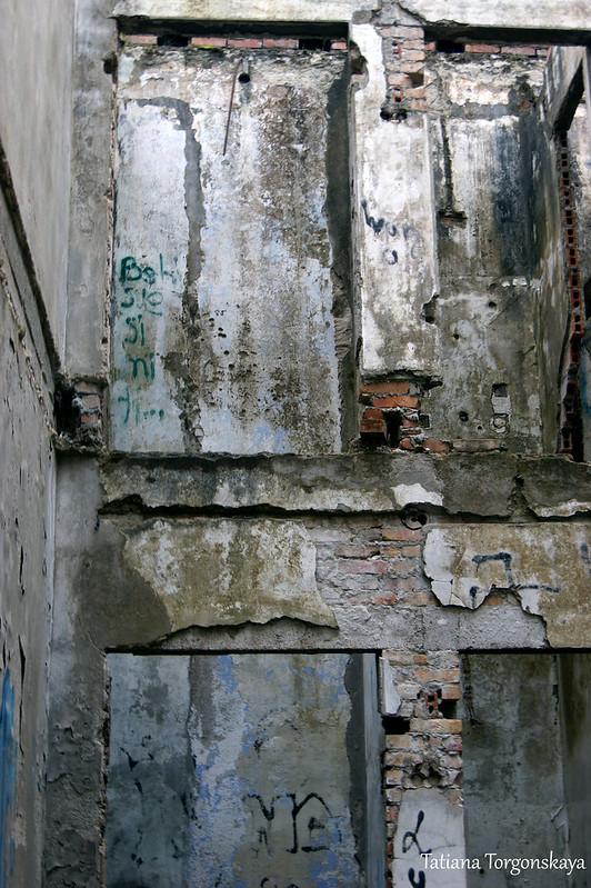 Стены внутри дома