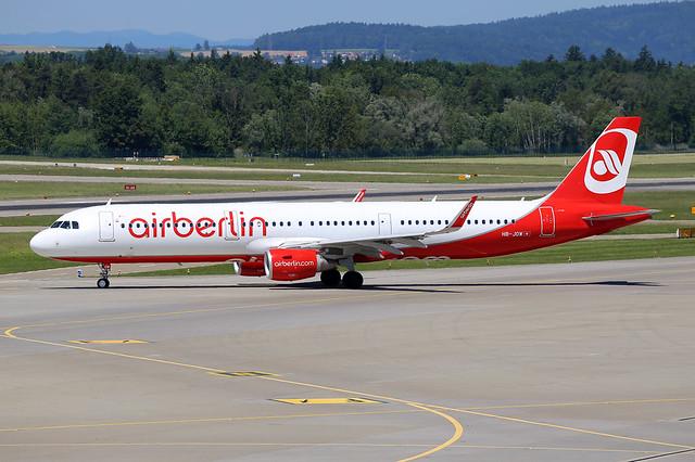 Air Berlin (Belair)  Airbus A321-211(WL) HB-JOW