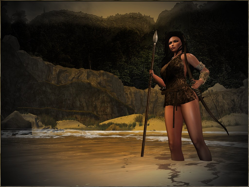 Gor - A Panther Girl is waiting for merchants at the Laurius river