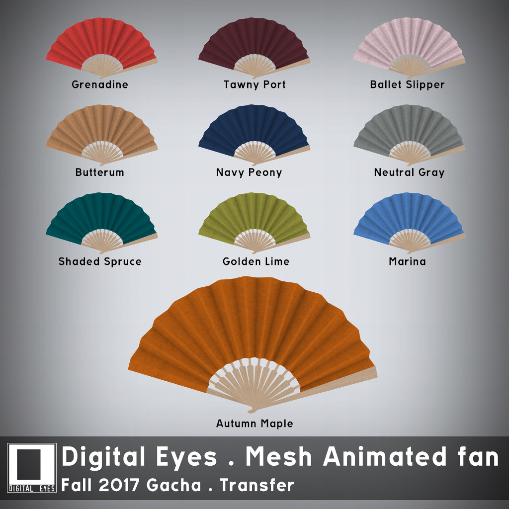 Digital Eyes - Mesh Animated Fan - Fall 2017 Gacha - SecondLifeHub.com
