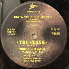 THE CLASH:KNOW YOUR RIGHTS(LABEL SIDE-B)