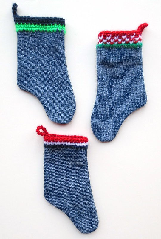 Recycled Denim Mini Stockings