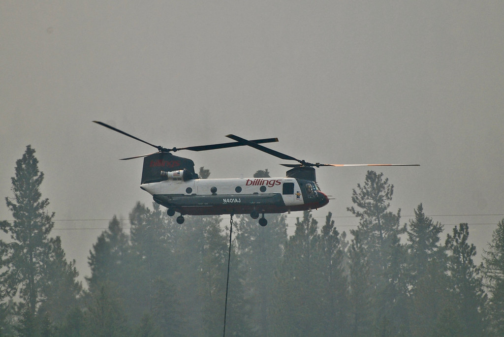 Sheep Gap Fire - helicopter