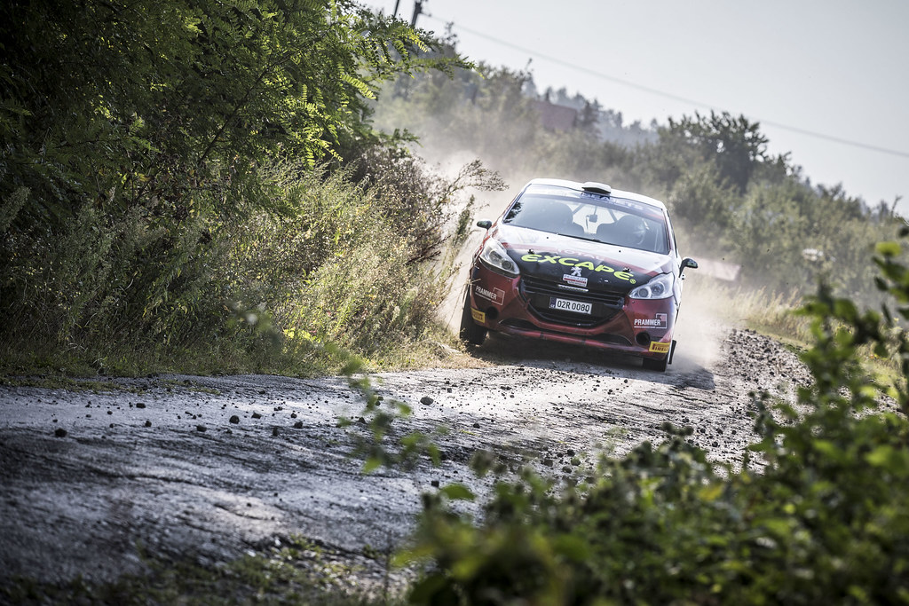 44 WAGNER Julian (AUT) HEILG Jurgen (AUT) Peugeot 208 R2 action during the 2017 European Rally Championship ERC Barum rally,  from August 25 to 27, at Zlin, Czech Republic - Photo Gregory Lenormand / DPPI