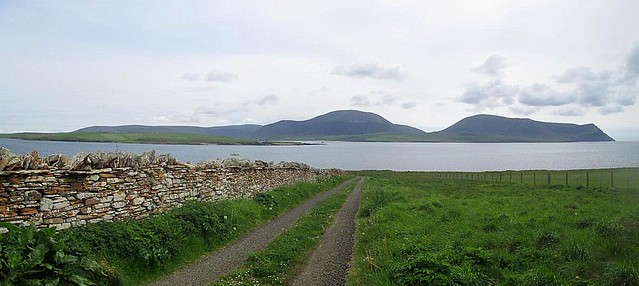 Graemsay and Hoy from Ness Battery