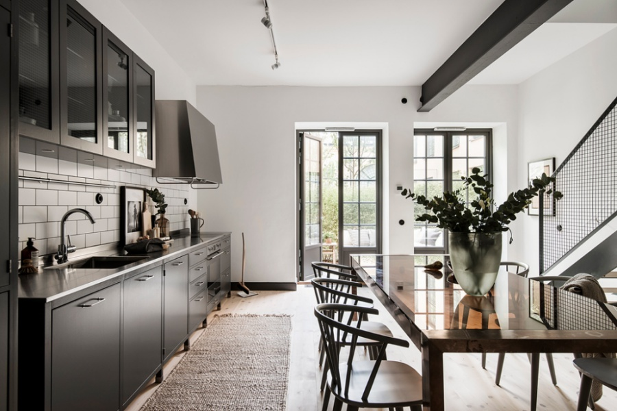 A Stylish Duplex In Sweden