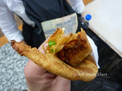Try something new - eating paratha in India. From Through the Eyes of an Educator: The Beginning