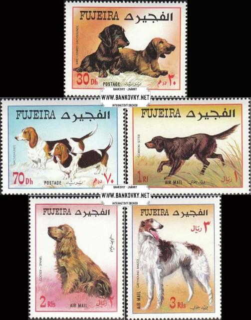 Známky Fujeira 1970 Psy, nerazítkovaná séria