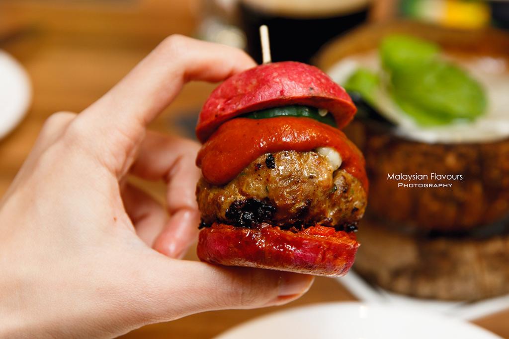 mini pork burger
