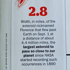 Near miss! Almost 4.4 million miles too close!
