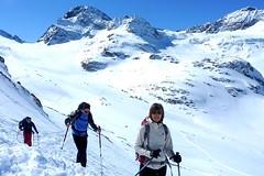 Skitour Silvretta. Piz Buin mit Ochsentaler Gletscher. Foto: Günther Härter.