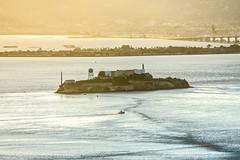 Alcatraz historic famous jail in san francisco bay california