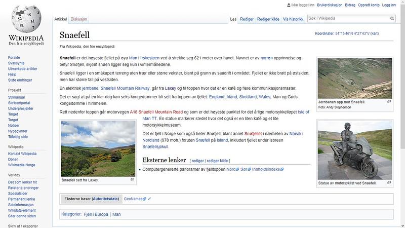 mer om snaefell wiki