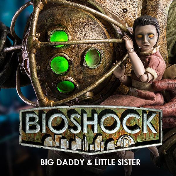 細膩的造型完全再現!!threezero 生化奇兵【大老爹&小妹妹】BIOSHOCK Big Daddy & Little Sister 1/6 比例人偶作品