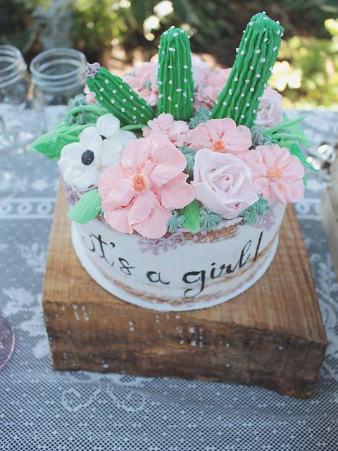 Baby Girl BOHO Shower Cake by Rachel~Cakes