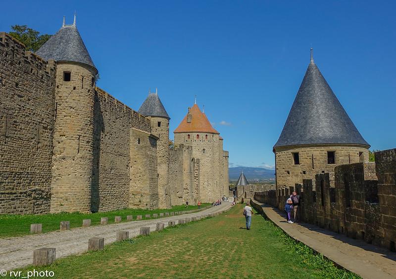 Muralla interior de Carcassonne, Francia