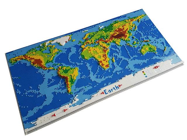 dirks LEGO world map