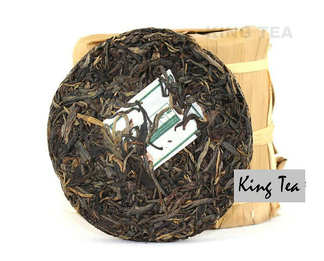 Free Shipping 2010 ShuangJiang MENGKU Small Round Beeng Cake Bing YunNan Organic Pu'er Raw Tea Sheng Cha Weight Loss Slim Beauty