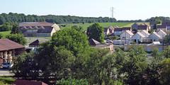 Bourogne, vue depuis la rue Lablotier