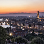 Florence at dusk
