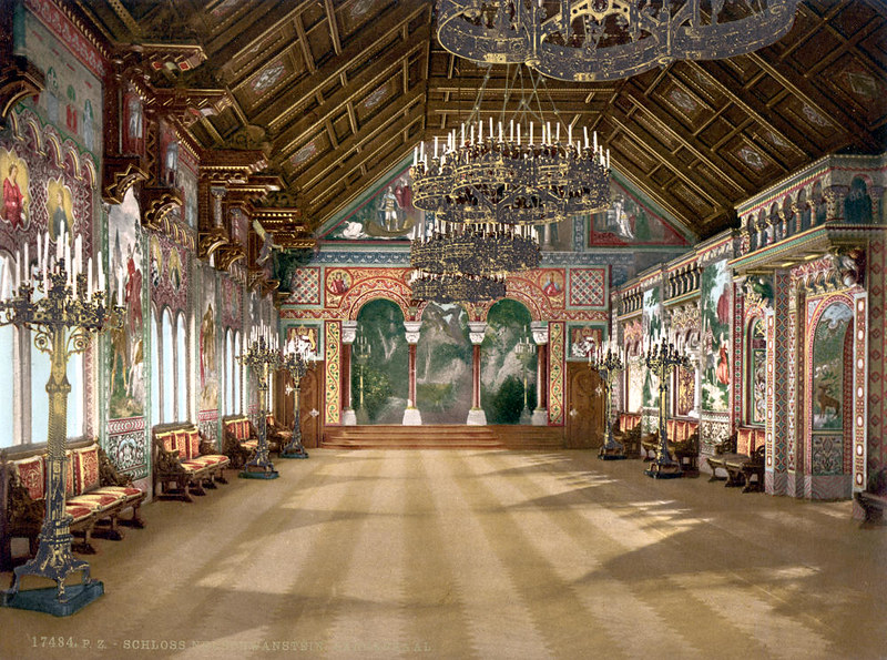 Music room, Neuschwanstein Castle, c. 1895