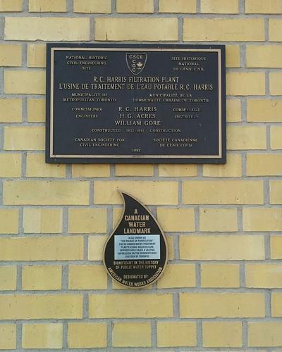 Plaques #toronto #scarborough #lakeontario #rcharriswatertreatmentplant #architecture #history #plaques