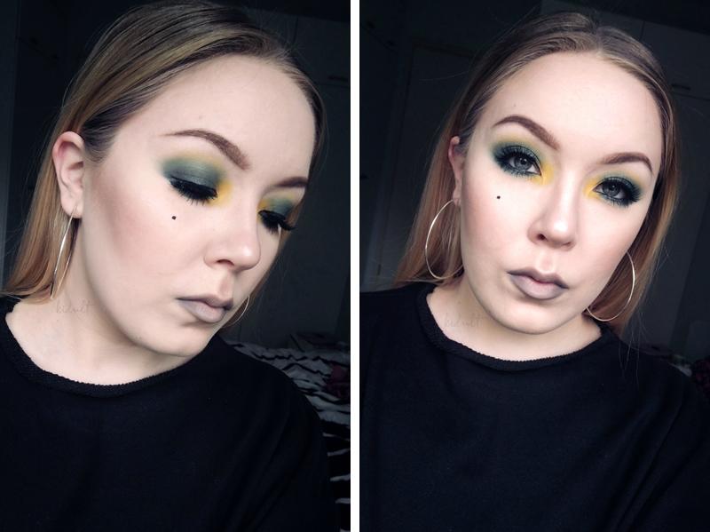 green yellow eye makeup look