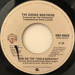 THE DOOBIE BROTHERS:DEPENDIN' ON YOU(LABEL SIDE-B)