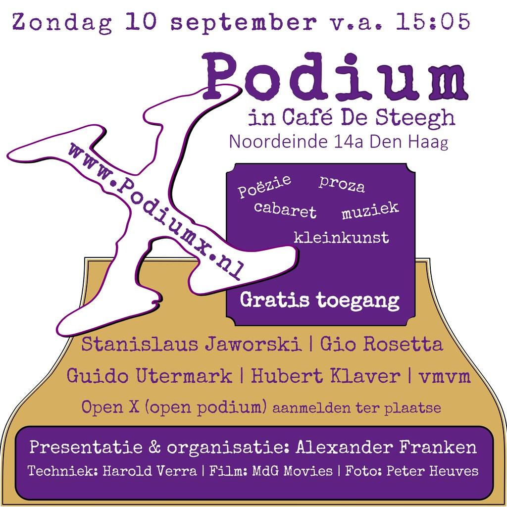 Podium X september 2017