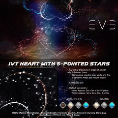 E.V.E Ivy Heart with 5-Pointed Stars Vendor