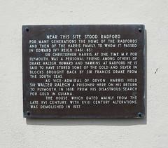 Photo of Christopher Harris and Radford bronze plaque