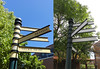 Golden Grove Village signpost - Before & After