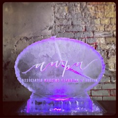 Big congratulations to everyone involved with the @awpaustin launch #event last night @800congress! We look forward to many collaborations to come! #fullspectrumice #iceluge #branding #thinkoutsidetheblocks #brrriliant - Full Spectrum Ice Sculpture