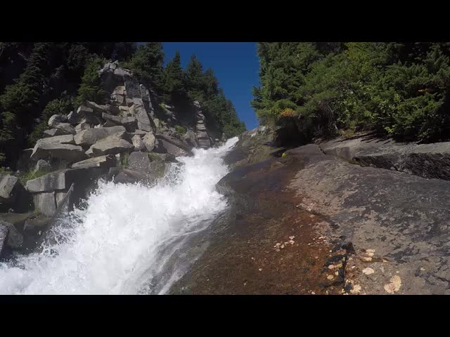 4023 GoPro video of the waterfall on Railroad Creek below Lyman Lake