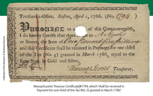 Massachusetts Treasury Certificate