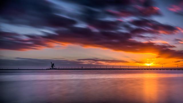 Sunrise over Alcoa Pier - Point Henry, Geelong