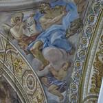 Daniel, pendentif de la coupole, église baroque du Gesù Nuovo (1584-1725), piazza del Gesù Nuovo,  Naples, Campanie, Italie.