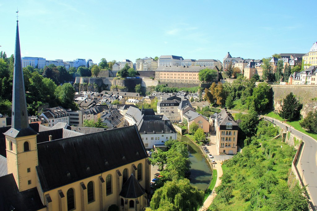 Luxembourg city viewed from the casemates