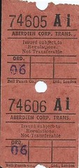 Aberdeen Corporation Transport Bus Ticket