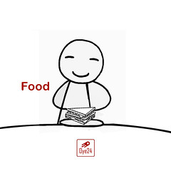 with food
