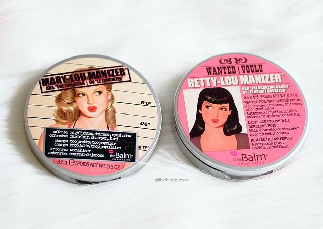 TheBalm Cosmetics Mary Lou Manizer and Betty Lou Manizer