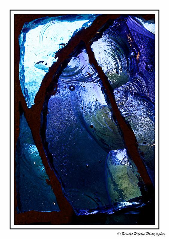 Eclats de verre....Eclats de bleu