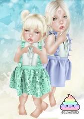{CuteShit} Green & Blue