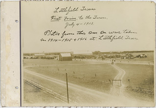 Littlefield, Texas. First Train to the Town, July 4-1913.